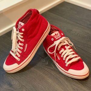 Rare Original Adidas Red Corduroy Sneakers